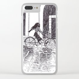 Cycling Fantasy Clear iPhone Case