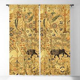 Antique Persian Tabriz Animal Rug Print Blackout Curtain
