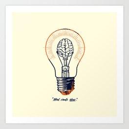 Mind create ideas Art Print