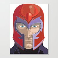 magneto Canvas Prints featuring Magneto by Jconner