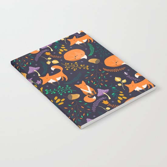 Foxes in magic forest Notebook