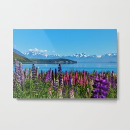 Tekapo Lake - New Zealand Metal Print