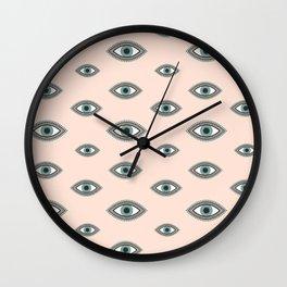 Eye Pattern Wall Clock