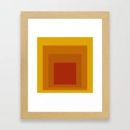Block Colors - Yellow Orange Red Framed Art Print