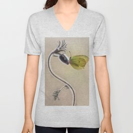 Spring impression with yellow butterfly Unisex V-Neck