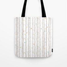 Trees and Birds Tote Bag