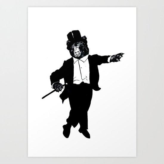 Tap Dancing Bear Art Print
