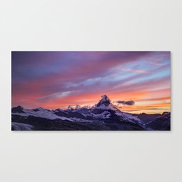 Himalayas Fishtail Mountain Sunset Canvas Print