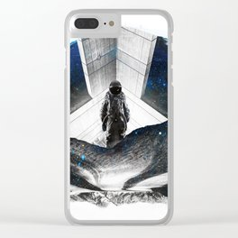 Astronaut Isolation Clear iPhone Case
