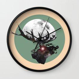 Majestic Space Elk Wall Clock