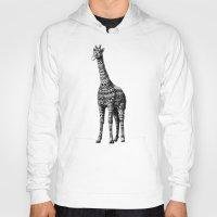 bioworkz Hoodies featuring Ornate Giraffe by BIOWORKZ