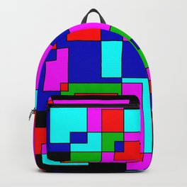 rectangles on black Backpack
