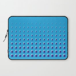 Blue on blue grid - Optical game 14 Laptop Sleeve