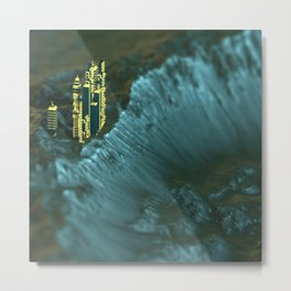 Martian Colonies 5 Metal Print