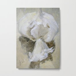 Garlic Still Life Painting of Food Vegetable Metal Print