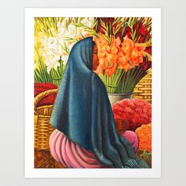 Thuantepec 'Flower Seller' by Miguel Covarrubias Art Print