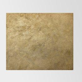 Golden texture background. Vintage gold. Throw Blanket