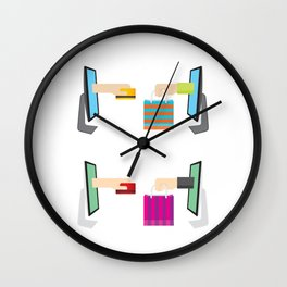 Cyber Monday Sale Special Offer Wall Clock
