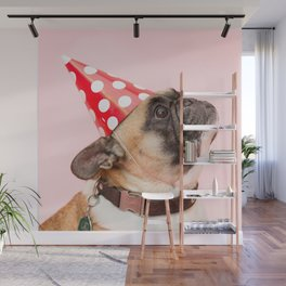 Pug Birthday Party! Wall Mural