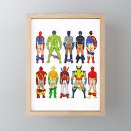 Superhero Butts Framed Mini Art Print