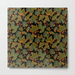 leaves and berries Metal Print