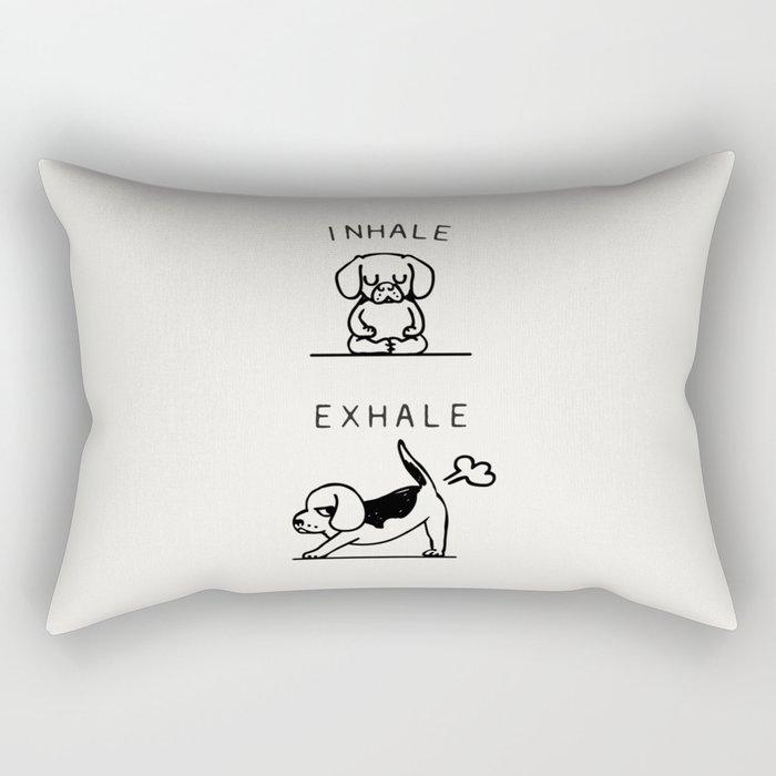 Inhale Exhale Beagle Rectangular Pillow