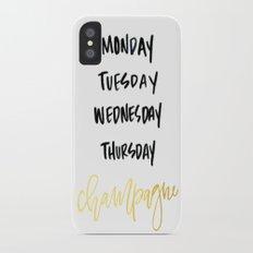 Champagne Diet Slim Case iPhone X