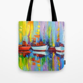 Sailboats berth Tote Bag