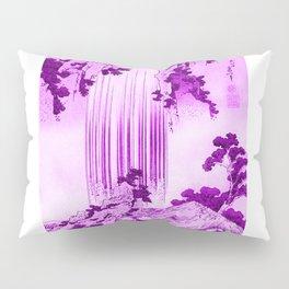 yoro waterfall in mino province remix in pink Pillow Sham