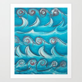 Water without the fish. Art Print