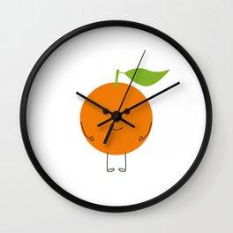 Orange character Wall Clock