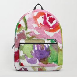 Bright Pink and Purple Wildflowers Backpack