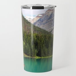 Boats on Emerald Lake Travel Mug