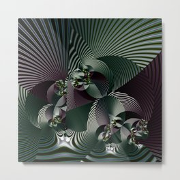 Life in geometric shapes Metal Print