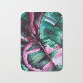 Aquarell Plant Stromanthe Sanguinea Bath Mat