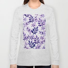 Watercolor Floral VIV Long Sleeve T-shirt