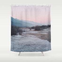 Frozen morning Shower Curtain