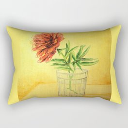 flower in a glass . illustration  ( https://society6.com/totalflora/collection ) Rectangular Pillow