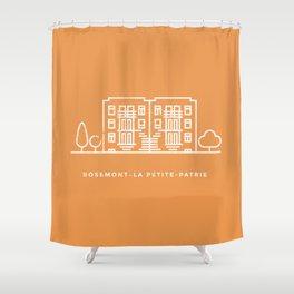 Rosemont-La Petite Patrie, Montréal. (Qc) Shower Curtain