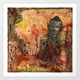Ink Bouddha Art Print