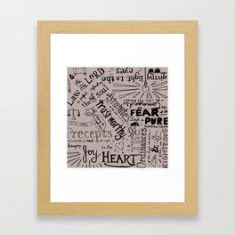 Psalm 19 Framed Art Print