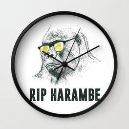RIP Harambre Wall Clock
