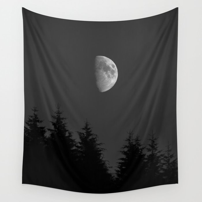 Moon Night Campsite vibes Wall Tapestry