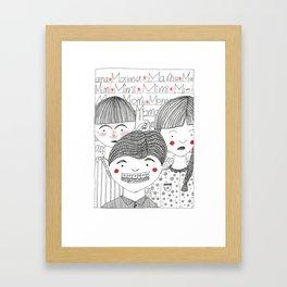 School's over Framed Art Print