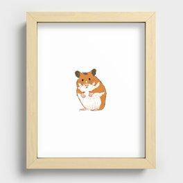 Hamster Recessed Framed Print