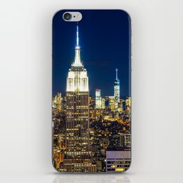 New York city skyline at night iPhone Skin