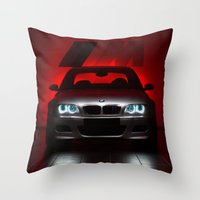 bmw Throw Pillows featuring BMW M3 by Vasco Estrelado - Photographer