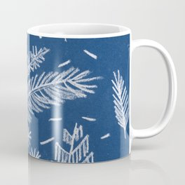White Pine on Speckled Blue Coffee Mug