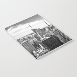 New York City Cityscape (Black and White) Notebook