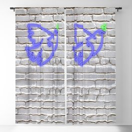 Peace Pigeon Brick- The Copy is a Hommage Blackout Curtain